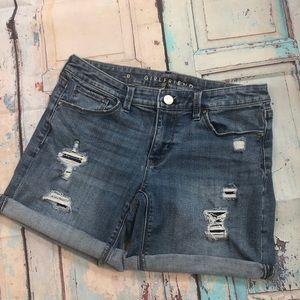 White House Black Market denim Shorts sz 0